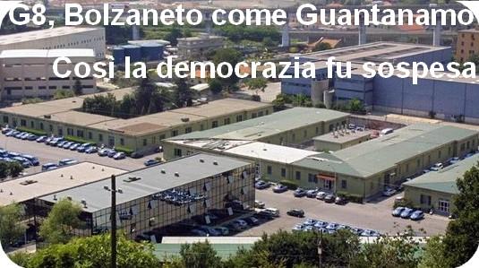 la caserma di Bolzaneto